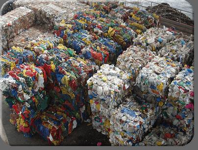 Proceso de reciclaje del plástico