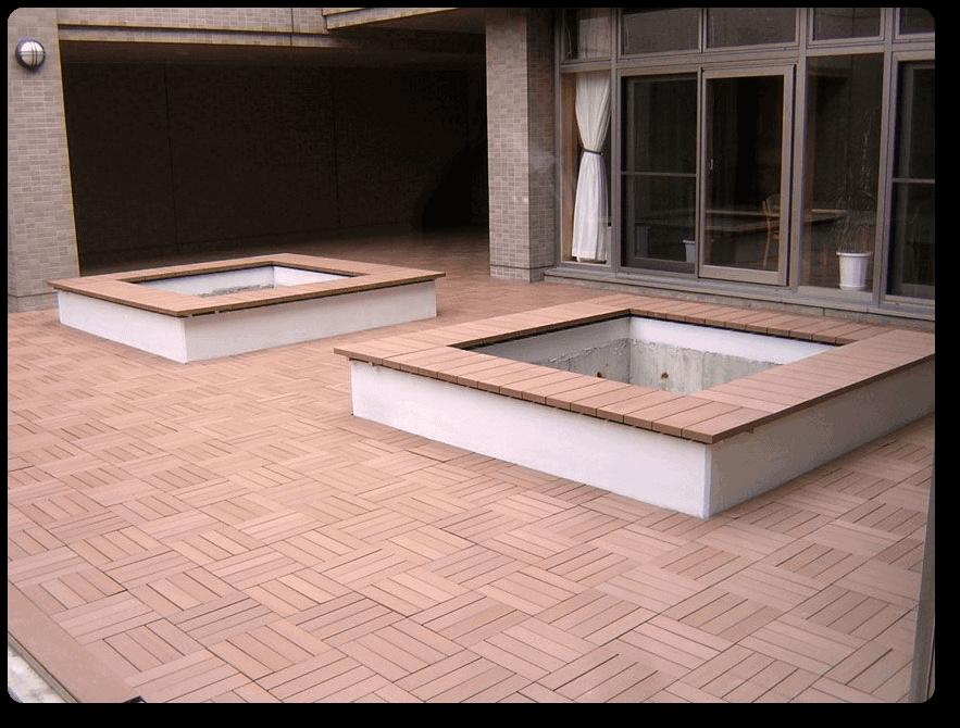 Losetas madera sint tica para exteriores neoture for Losetas para fachadas