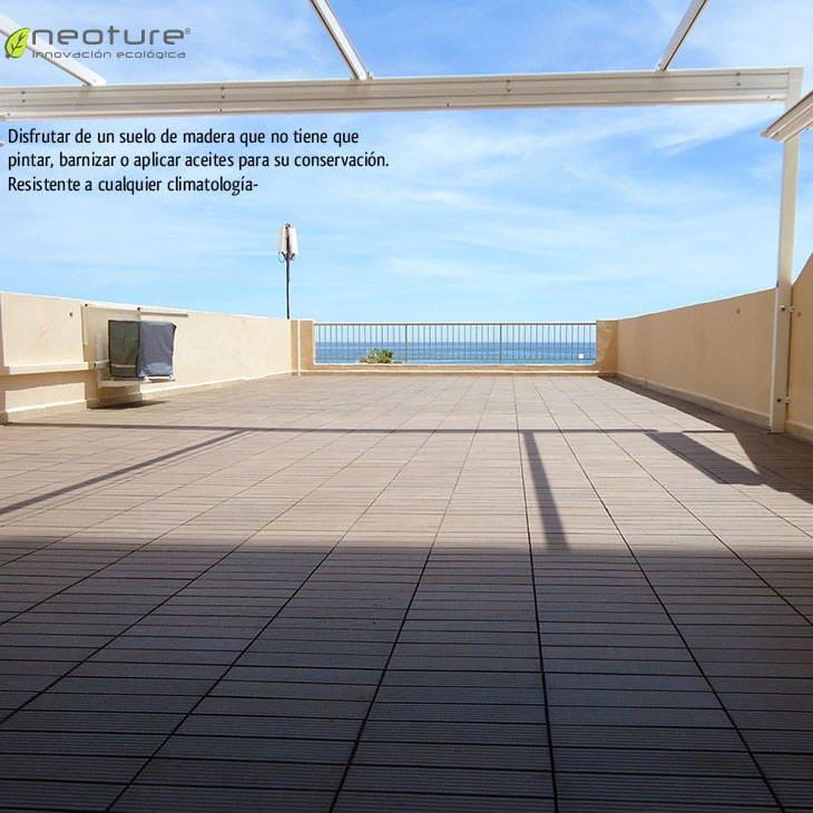 las baldosas de madera sintetica estn indicadas para exterior with baldosa terraza