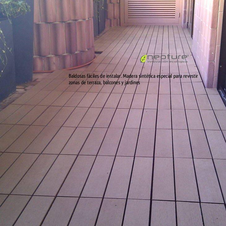 despus de instaladas las baldosas de exterior podemos disfrutar de un suelo de madera sin