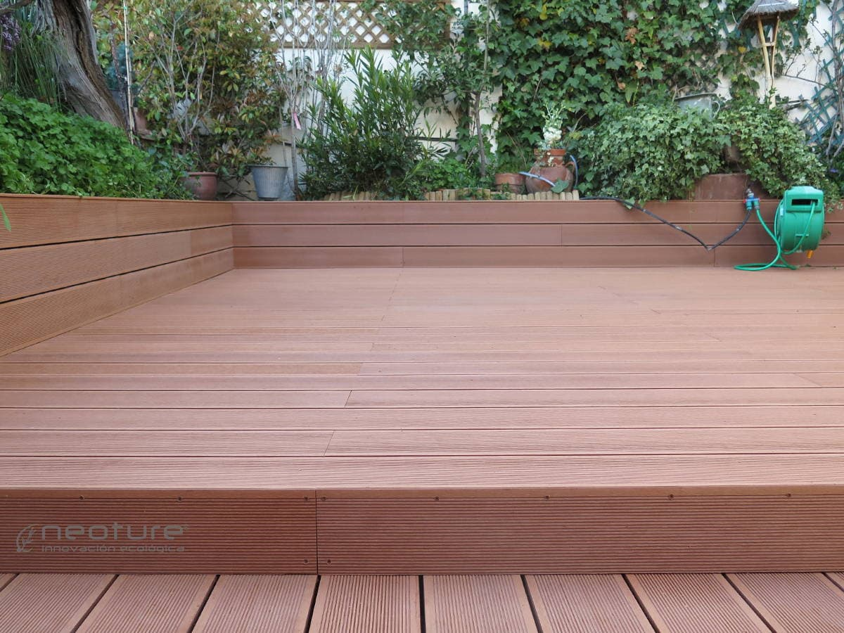 Tarima exterior leroy merlin top awesome cheap deck de - Suelo madera exterior leroy merlin ...