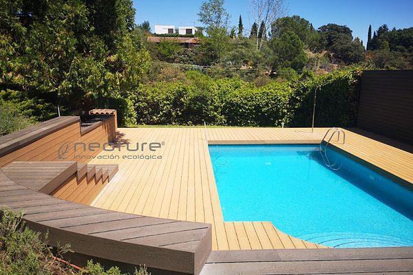 Tarima tecnológica neoture para exterior y piscinas