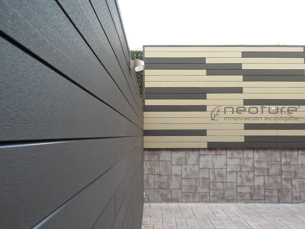 Cerramiento terraza madera sin mantenimiento - Decoracion fachadas exteriores ...