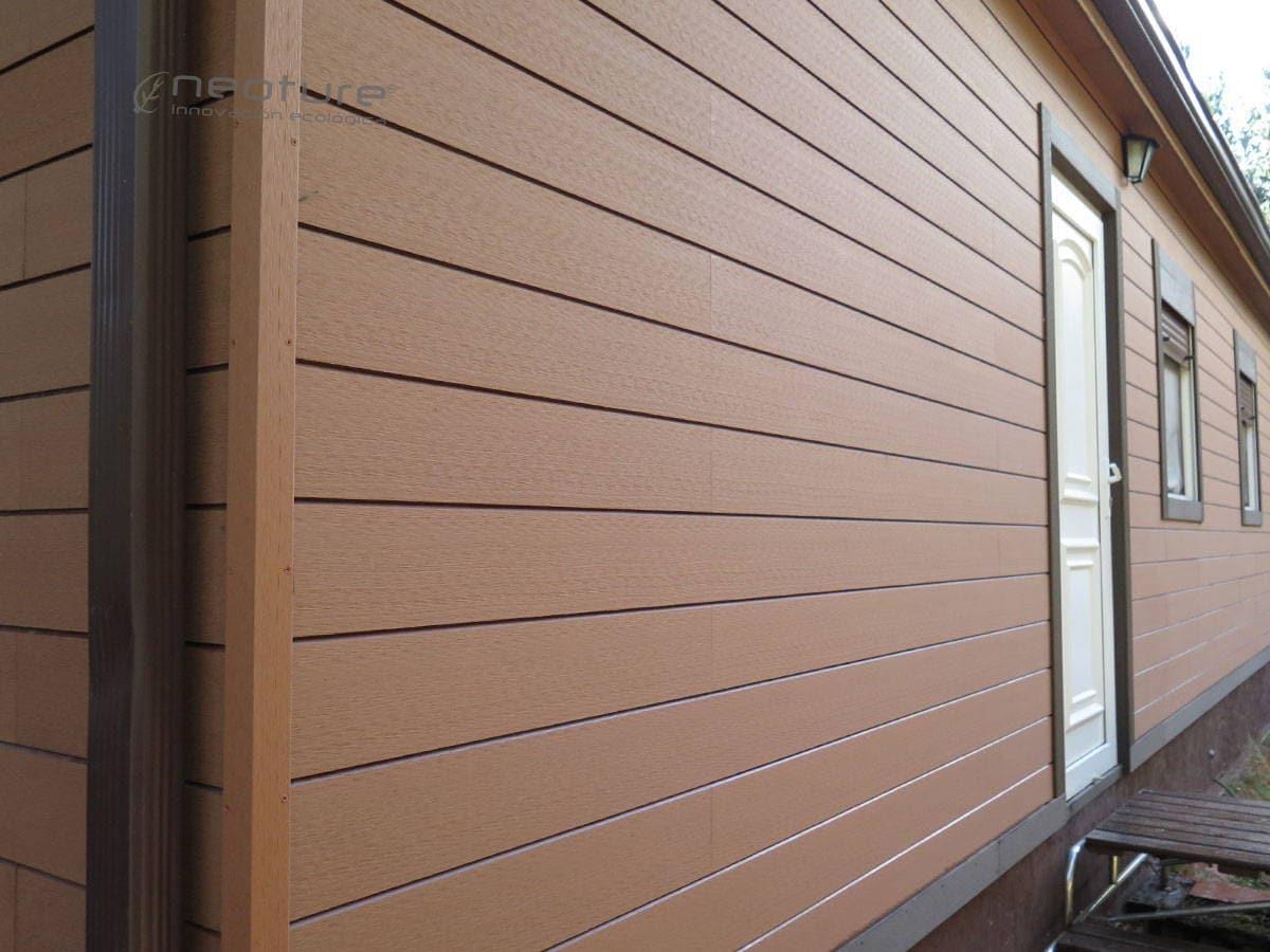 Revestimiento exterior madera materiales de construcci n - Materiales de construccion para fachadas ...