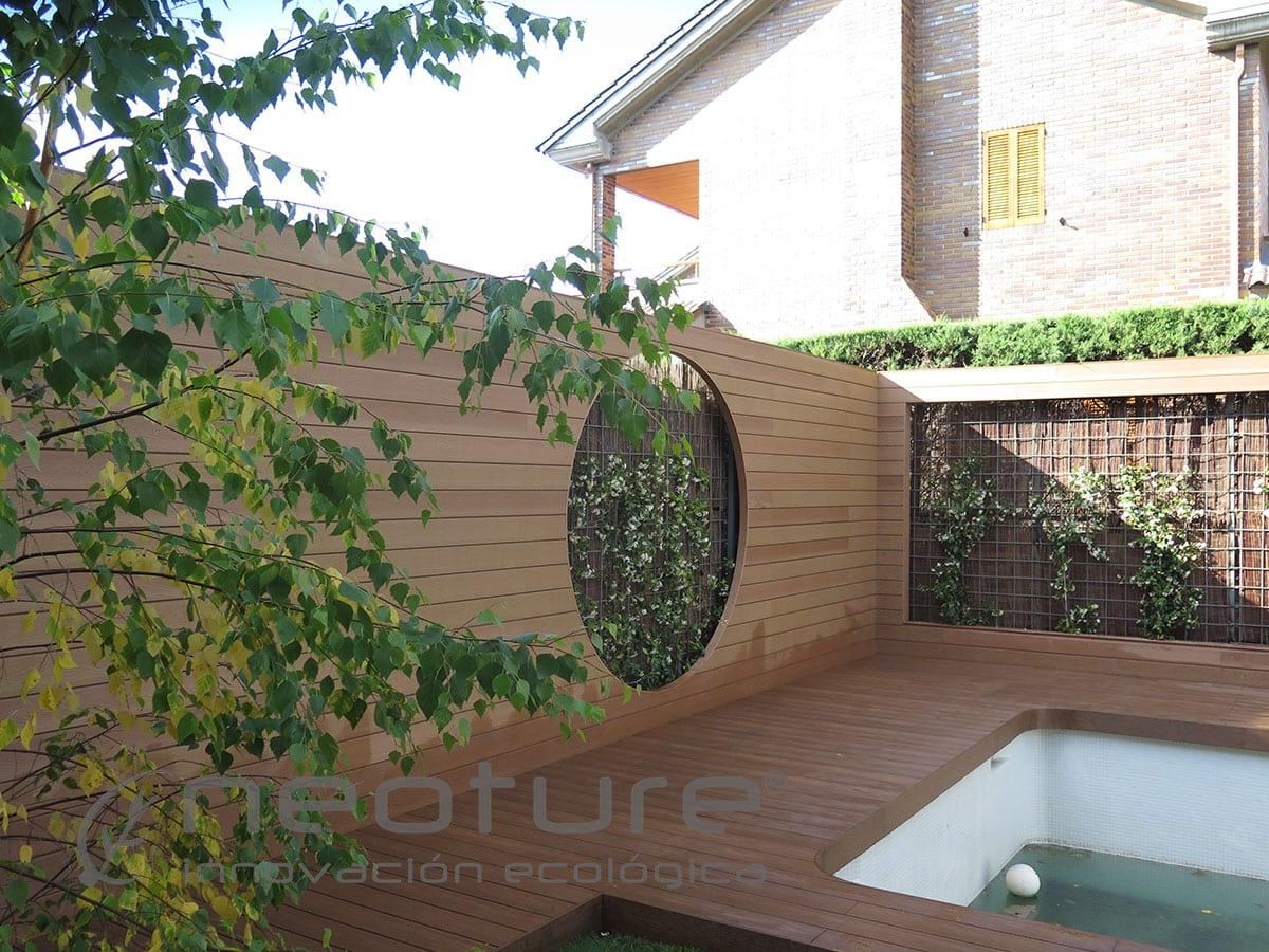 Revestimiento sint tico for Madera jardin exterior