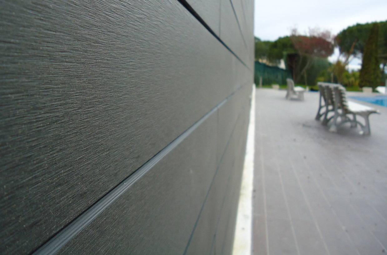 revestimiento exterior en madera sinttica color grey - Revestimiento Exterior
