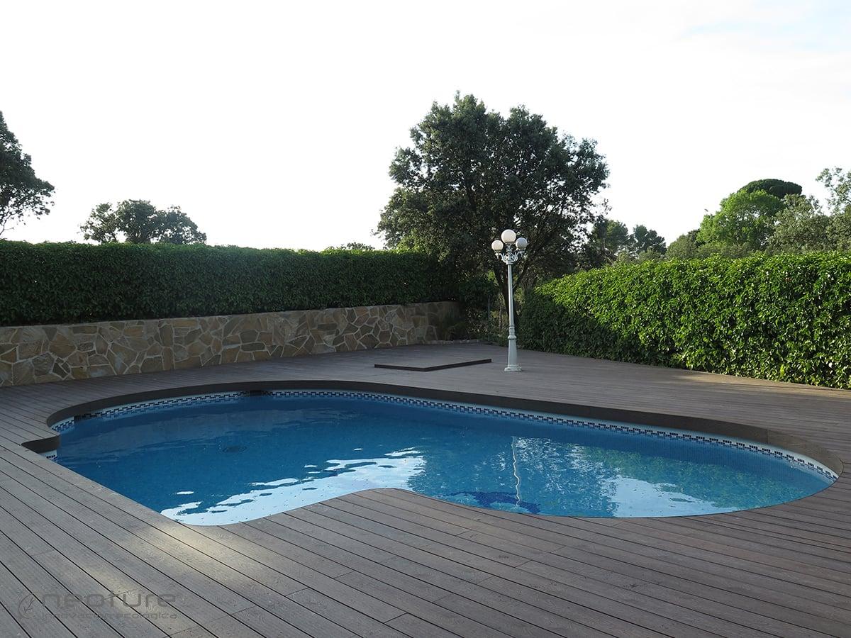 Piscina exterior de piscina exterior piscina exterior for Tarima piscina