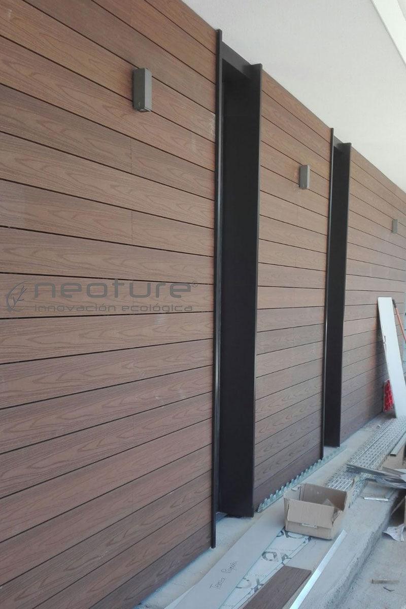Instalacion de revestimiento madera composite fachada neoture - Revestimiento para exterior ...